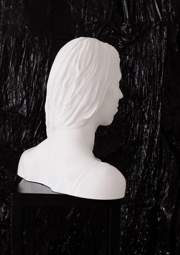 3D printed self portrait 2019. 3D printer as large as life 3