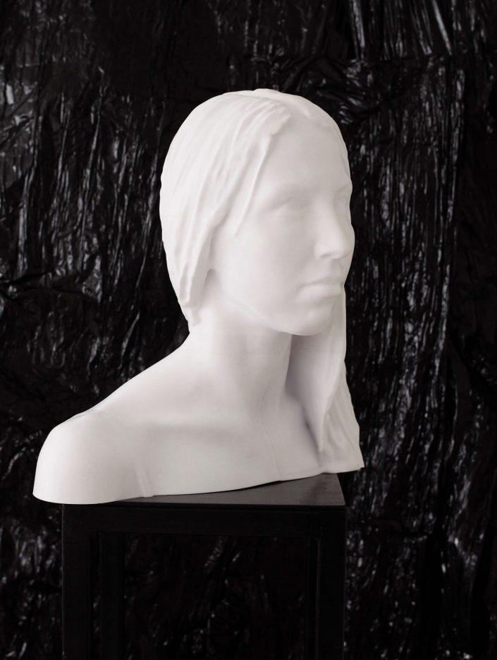 3D printed self portrait 2019. 3D printer as large as life