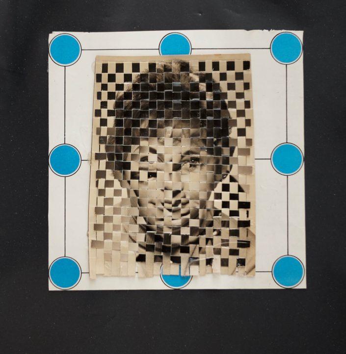 Androgün III. 2019. cuted photos rubbist bag 32 x 28 cm