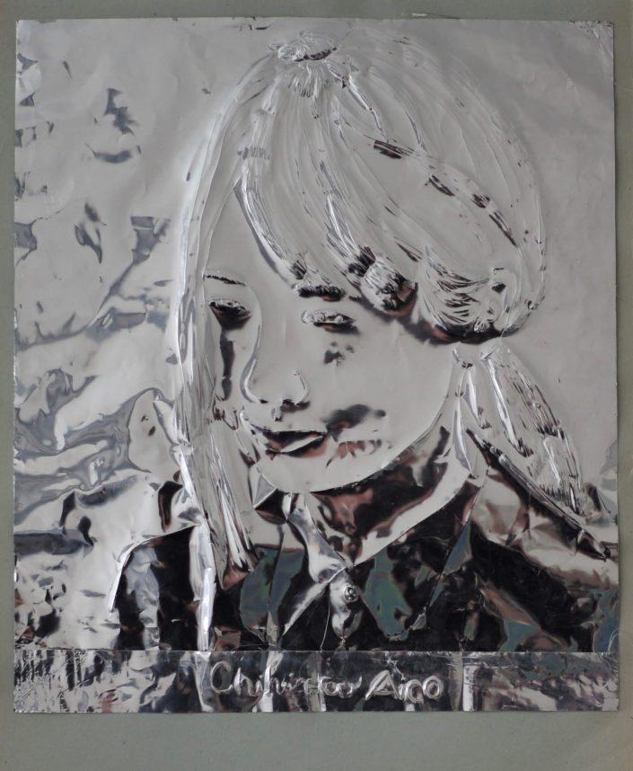 Chihira Aico 2019. scratch on aluminium foil paper 305 x 245 cm