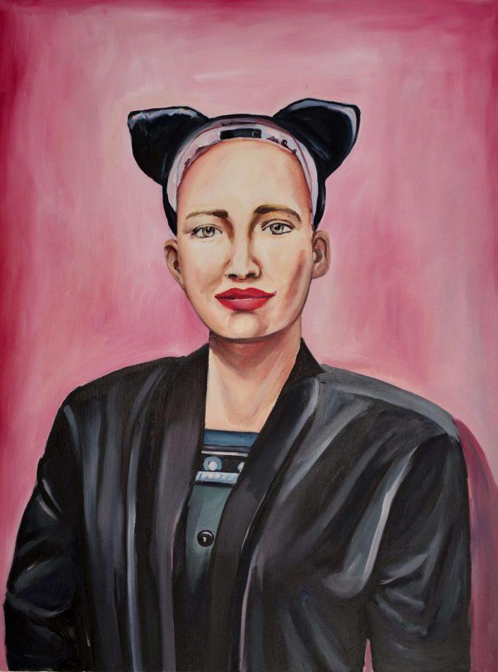 Cat Sophia 2019. oil on canvas 120 x 90 cm