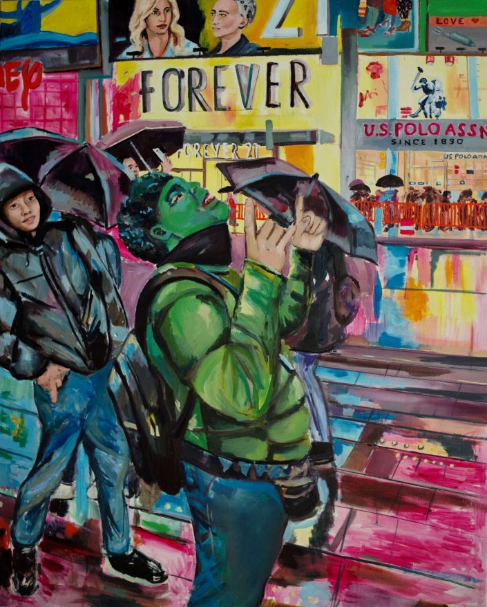 Forever 21 2019. oil on canvas 100 x 80 cm