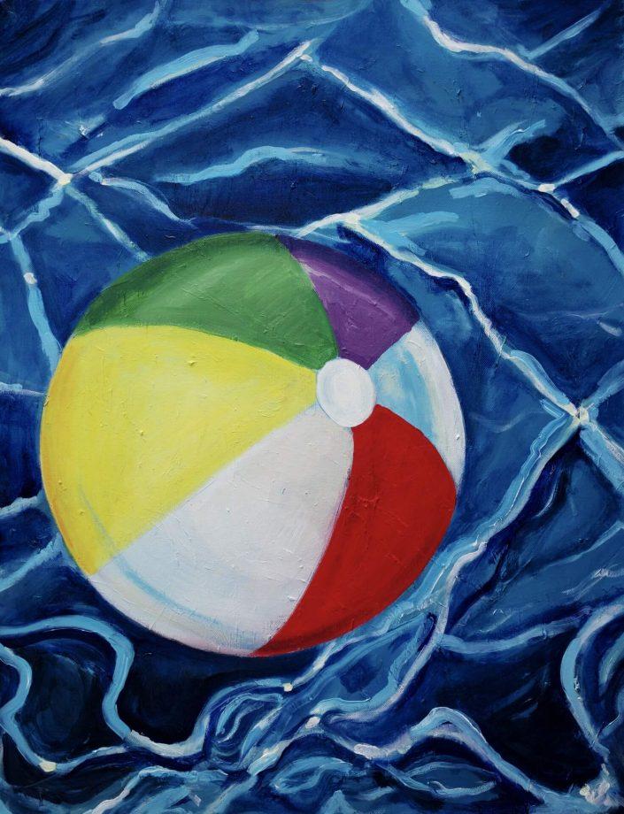 Summertime 2020. oil on canvas 75 x 58 cm