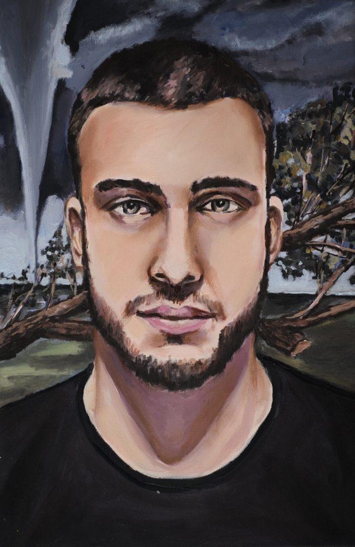 Tornado 2020. oil on canvas 46 x 305 cm
