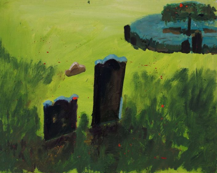Trinity church cemetery NYC. 2019. oil on canvas 40 x 50 cm