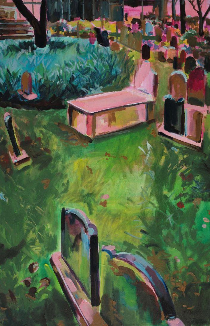 Trinity church cemetery NYC. 2019. oil on canvas 68 x 45 cm