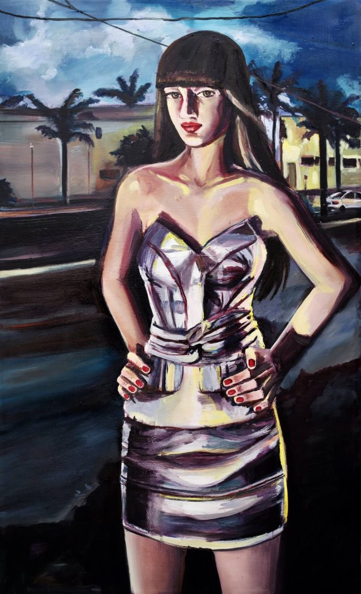 Yellow lights I. 2020. oil on canvas 100 x 60 cm